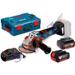 Amoladora angular a batería GWS 18V-10 Professional (solo CUERPO)+ LBoxx