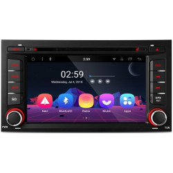 "Radio GPS 2Din LCD HD 7"" 64Bit Wifi 4G Android 6.0 para Volkswagen Seat y Skoda"
