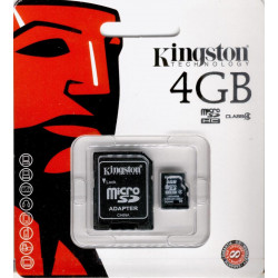 Tarjeta Micro SD 4GB + Adaptador