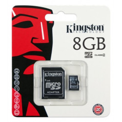Tarjeta Micro SD 8GB + Adaptador