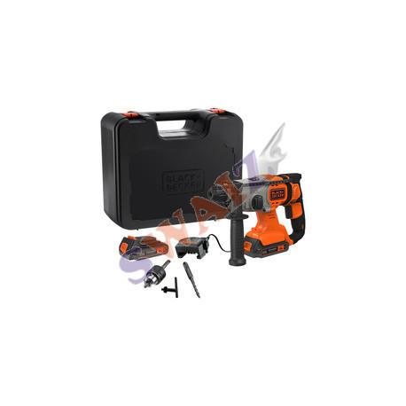 Taladro atornillador B&Decker 18V + cargador 400mA + Maletín + 1 batería