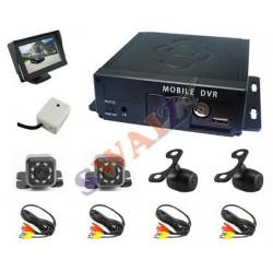 Sistema Grabación HD 4 canales 12V/24V con camaras
