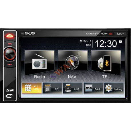 "Radio GPS LCD Táctil 6,2"" 800X480 Bluetooth"