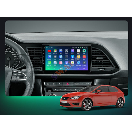 """Navegador Seat Leon 3 LCD 9"""" Android 10 CanBus"""