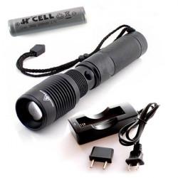 Linterna de LED 10w con cargador USB + Batería 18650