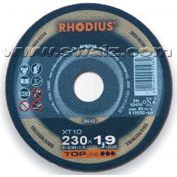 RHO206260 Disco corte inox. Rhodius XT10-230x1,9
