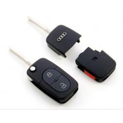 Carcasa de llave para AUDI A3 A4 A5 A6 A8 con espadín y 2 botones + 1 Panic