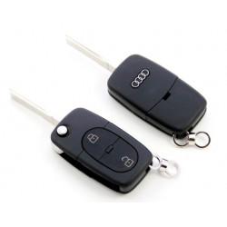 Carcasa de llave para AUDI A3 A4 A5 A6 A8 con espadín plegable y 2 botones