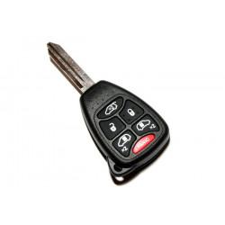 Carcasa de llave para Chrysler Jeep Dodge con espadín y 6 botones