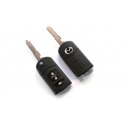 Carcasa de Llave para Mandos de Mazda con 3 botones y espadín plegable