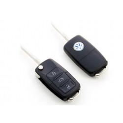 Carcasa de llave para VW con espadín plegable y 3 botones