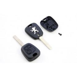 Carcasa de LLave para Mandos de Peugeot con 2 botones y espadín