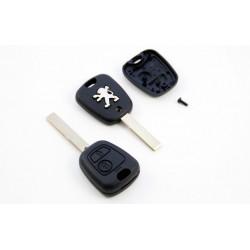 Carcasa LLave para Mandos de Peugeot con 2 botones y espadín