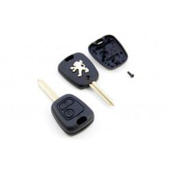Carcasa de Llave para Mando de Peugeot con 2 botones y espadín