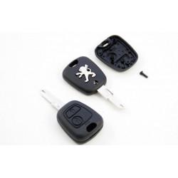 Carcasa de llave para Peugeot 206 307 406 con espadín y 2 botones