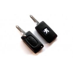 Carcasa de Llave para Mandos de Peugeot con 2 botones y espadín plegable