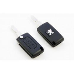 Carcasa de llave para Peugeot 206 307 407 con espadín plegable y 2 botones