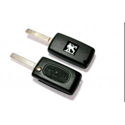 Carcasa para convertir llaves de Peugeot a mandos con 3 botones