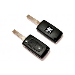 Carcasa para convertir llaves de Peugeot a mandos con 2 botones