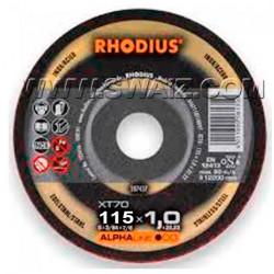 Disco corte inox Rhodius XT70-115X1 caja 100 uds.