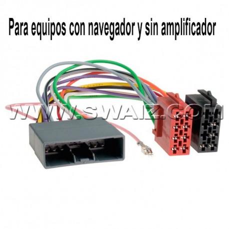 CABLE ADAPTADOR OEM-ISO CITROËN-HONDA-MITSUBISHI-PEUGEOT -  Con navegador,sin amplificador