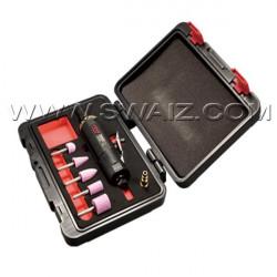 Kit en cofre de espuma de amoladora recta con accesorios - 7 piezas