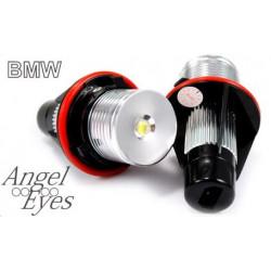 Pareja de Bombillas 1 Led Blanco Faros Angel Eyes para BMW