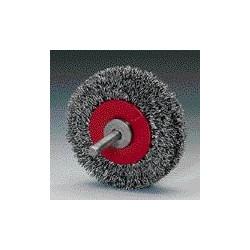 Cepillo rotativo D50x17 espiga 6 alambre acero 0,30 ondulado T13