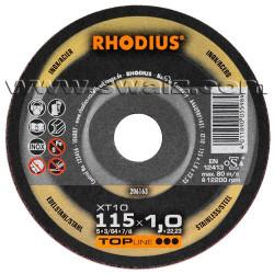 RHO204619 Disco corte inox Rhodius XT38-115X1