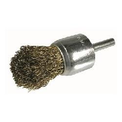Cepillo pincel D.25 nylon abrasivo grano fino espiga de 6 mm