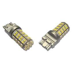 2 Bombillas led Tipo 7443 60 leds tipo 3528 Dual color9-32V