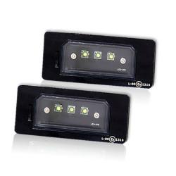 2 Plafones Led Placa de Matrícula Black AluminumQ5 3 CREE LED