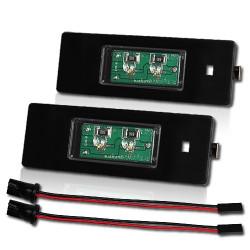 2 Plafones Led Placa de Matrícula 10W E87 Osram Chip with 194 socket