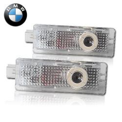 2 Plafones BMW LED Luz de Bienvenida con Logo