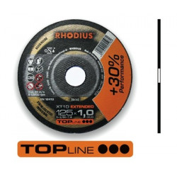 RHO206163 Disco corte inox Rhodius XT10-125X1