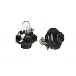 Caja 10 Lámparas halógenas mini BX8.4D 1,2W Negro 12V