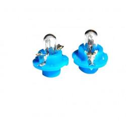 Caja 10 Lámparas halógenas mini B8.4D 1,2W Azul 12V