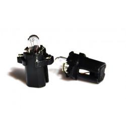 Caja 10 Lámparas halógenas mini B8.3D 1,2W Negro 12V