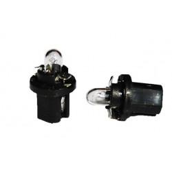 Caja 10 Lámparas halógenas mini BX 8,5D 1,2W Negro Transparente 12V