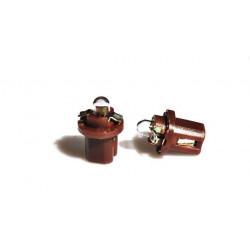 Caja 10 Lámparas halógenas mini BX8,5D 1,2W Marrón 24V