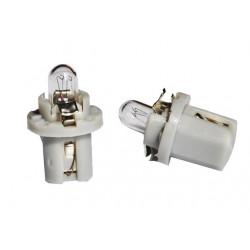 Caja 10 Lámparas halógenas mini B8,5D 1,2W Gris 24V