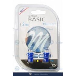 Blister 2x Lámpara led L006 - W5W cóncavo Azul 12V