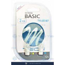 Blister 2x Lámpara led L006 - W5W cóncavo Blanco 12V