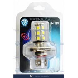 Blister 1x Lámpara led X44 H4 18xSMD5050 Blanco 12V