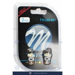 Blister 2x Lámpara led L079 - W5W 6xSMD3528 Blanco 12V