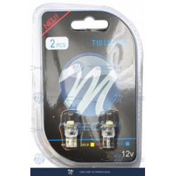 Blister 2x Lámpara led L081 - W5W 1xSMD5050 Blanco 12V