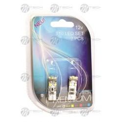Blister 2x Lámpara led L312 - W5W 8xSMD3528 CANBUS Blanco 12V