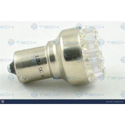 Lámpara led L035 - Ba15s 19LED 5mm Rojo 12V