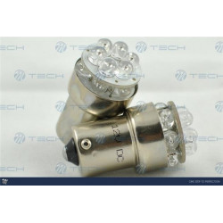 Lámpara led L039 - Ba15s 12LED 5mm Amarillo 12V