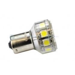 Lámpara led L076 - Ba15s 18xSMD5050 Blanco 12V